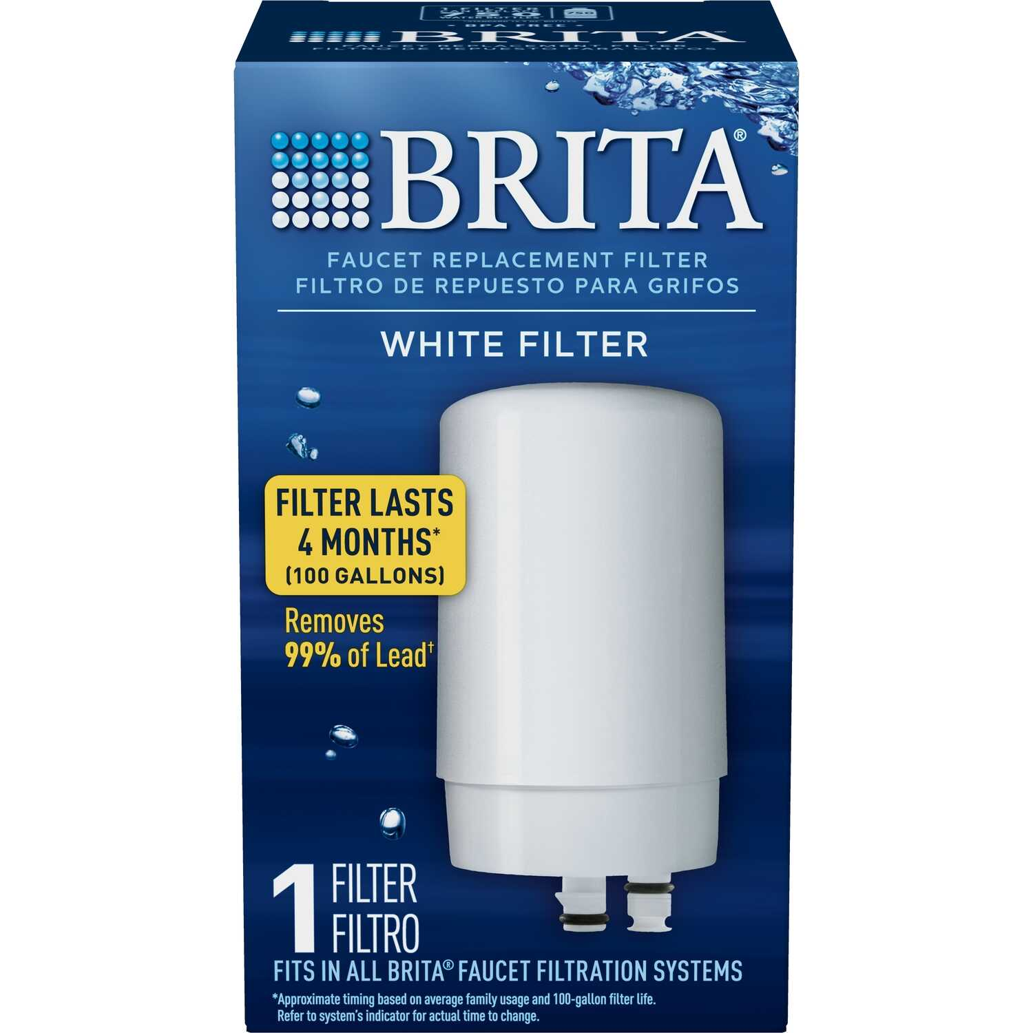 Brita  Faucet Replacement Filter  100 gal.