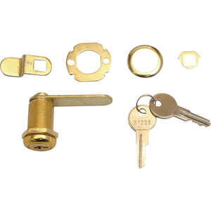 Prime-Line  Bright Brass  Bronze  Steel  Cabinet/Drawer Lock