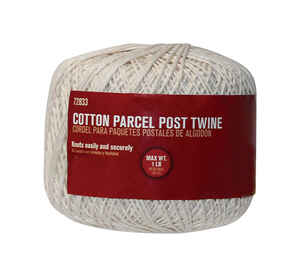 Ace  300 ft. L White  Twisted  Twine  Cotton