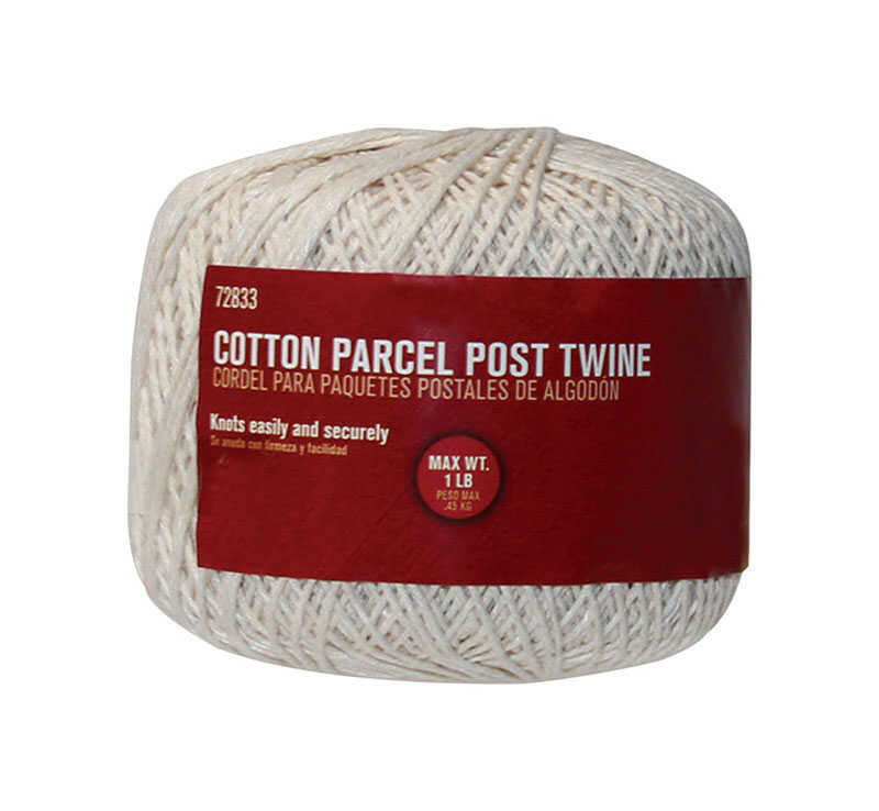 Ace  300 ft. L White  Cotton  Twine  Twisted