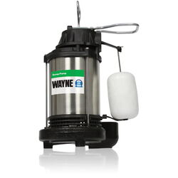 Wayne 3/4 hp 5,673 gph Stainless Steel Vertical Float Switch AC Submersible Sump Pump