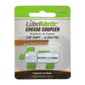 Lubrimatic  Straight deg. Grease Gun Coupler  1 pk