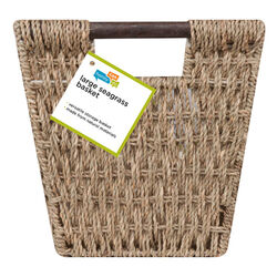 Honey Can Do  10 in. H x 10-1/2 in. W x 20-1/4 in. L Brown  Woven Basket