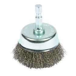 Forney  2 in. Dia. x 1/4 in.  Coarse  Steel  Crimped Wire Cup Brush  6000 rpm 1 pc.