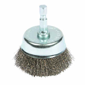 Forney  2 in. Dia. x 1/4 in.  Coarse  Crimped Wire Cup Brush  1 pc. Steel
