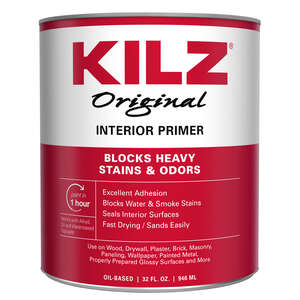 Kilz  Original  White  Oil-Based  Primer  1 qt. For Wood, Drywall, Plaster, Paneling, Wallpaper, Mas