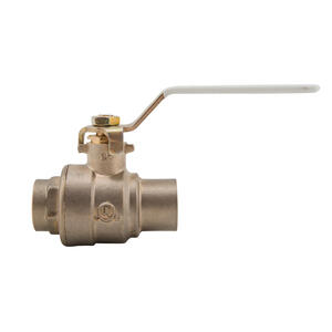 Watts  1/2  Brass  Solder  Ball Valve