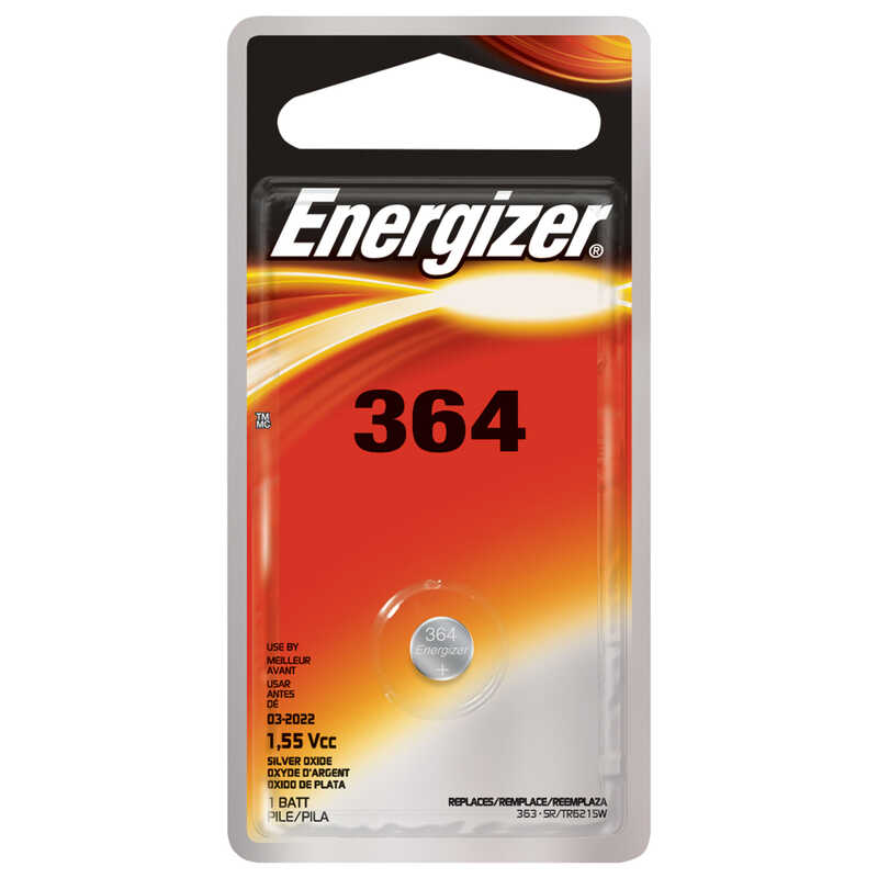 Energizer  Silver Oxide  364  1 pk Electronic/Watch Battery  1.5 volt