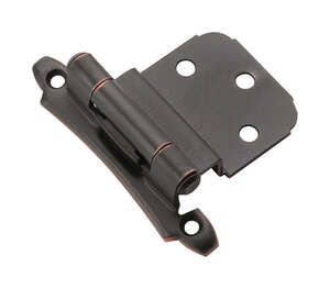 Amerock  2-1/8 in. W x 2-3/4 in. L Oil Rubbed Bronze  Steel  Self-Closing Hinge  2 pk