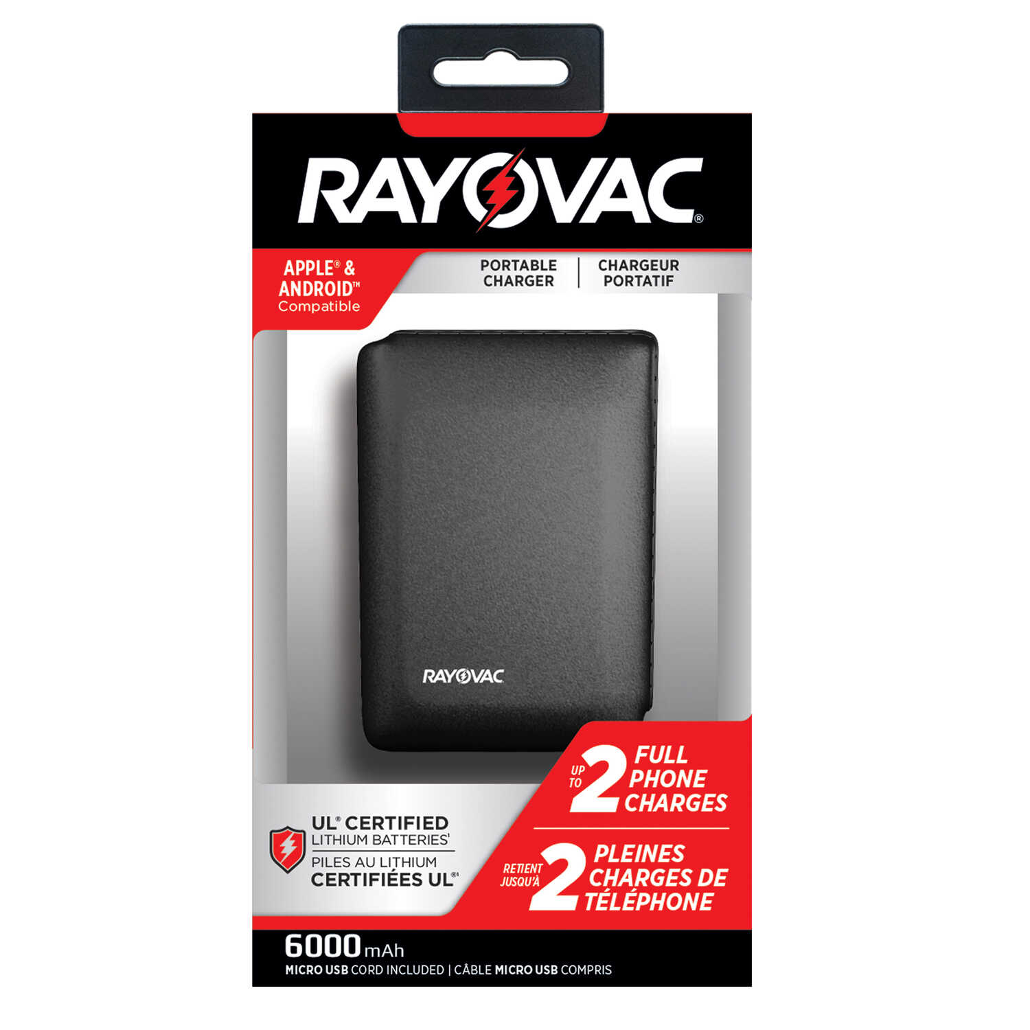 Rayovac  Cell Phone Charger  1 pk