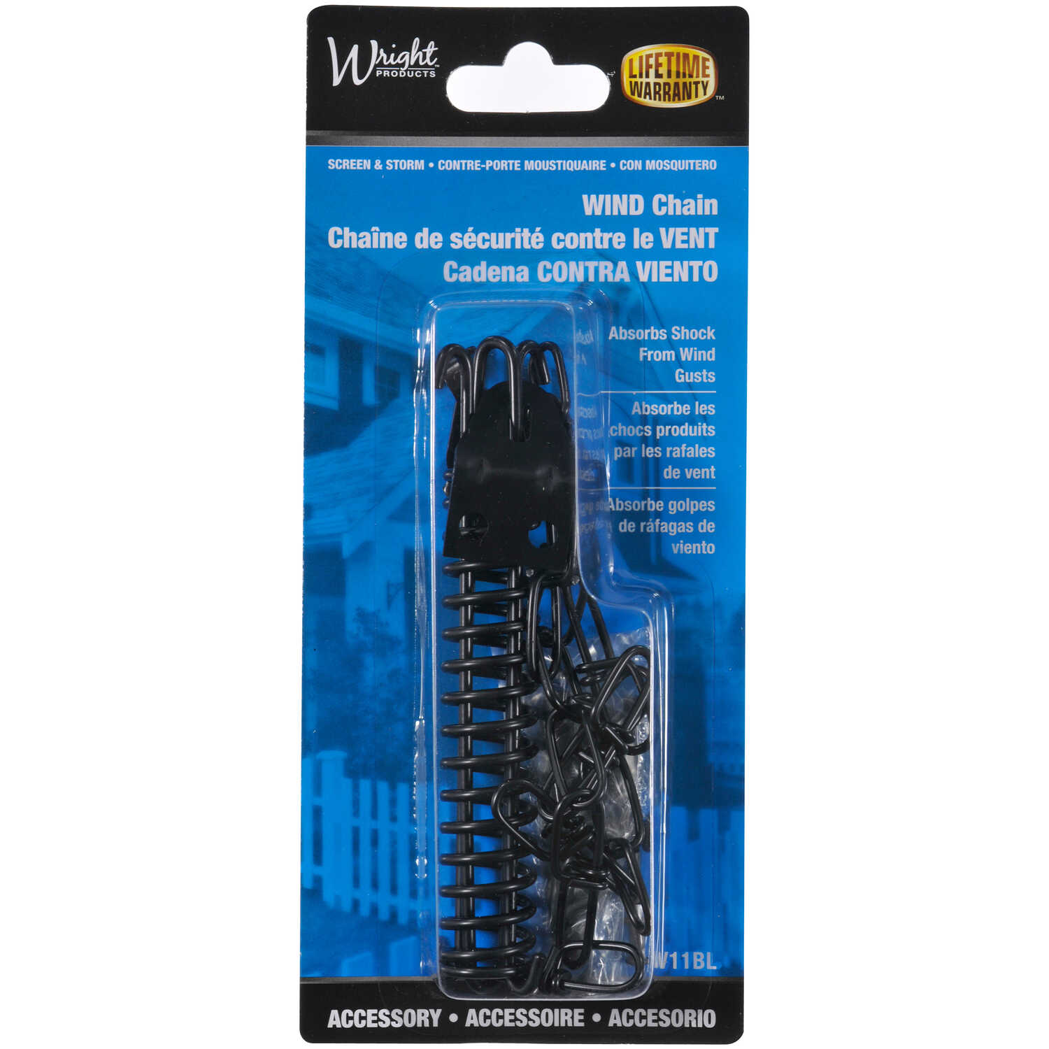 Wright  Black  Black  Galvanized  Door Retainer  1 pk