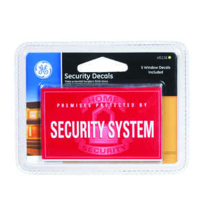 GE Security Decals 2.1 in. x 4 in. x 4.9 in.