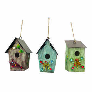 Alpine  9.64 in. H x 4.96 in. W x 6.18 in. L Metal  Bird House