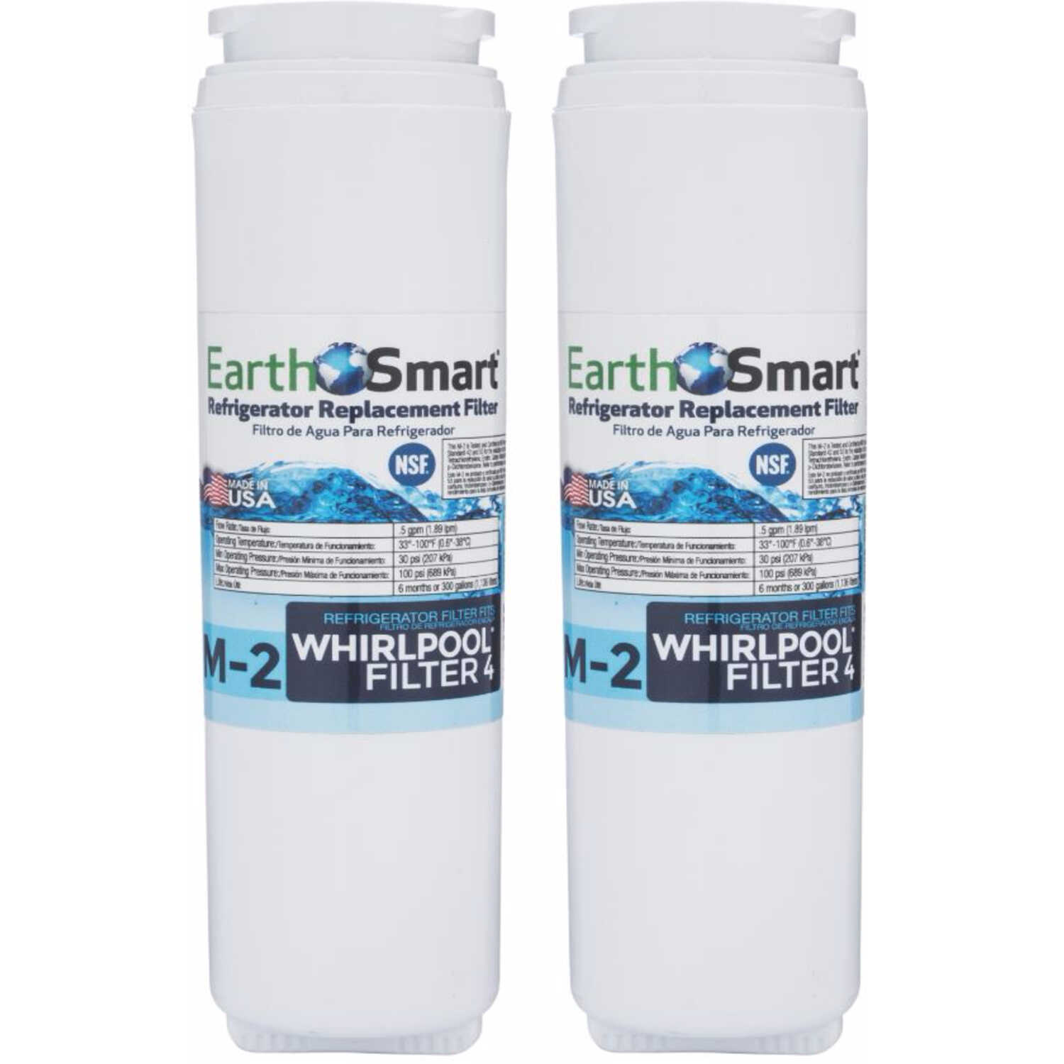 EarthSmart  M-2  Replacement Filter  For Refrigerators 300 gal.