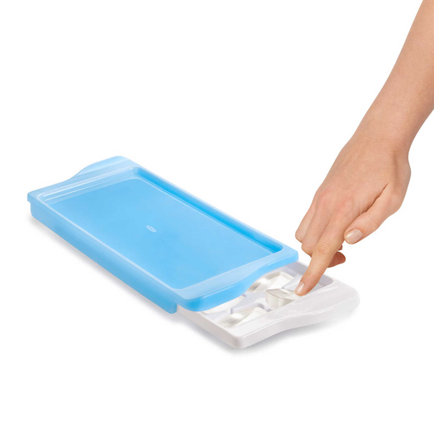 OXO  Good Grips  5 in. W x 13 in. L Blue  Ice Cube Tray