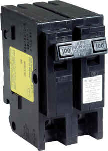 Square D  HomeLine  100 amps Surge  2-Pole  Circuit Breaker