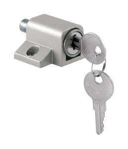 Prime-Line Patio Door Keyed Lock 1 in. 1 in. x 1.8 in. x 5.4 in. Aluminum Die-Cast 1/Carded