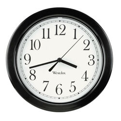 Westclox 8-1/2 in. L x 8-1/2 in. W Indoor Analog Wall Clock Plastic Black/White