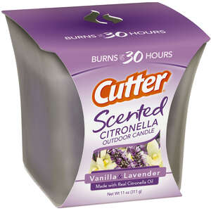 Cutter  Scented  Candle  Solid  For Mosquitoes 11 oz.