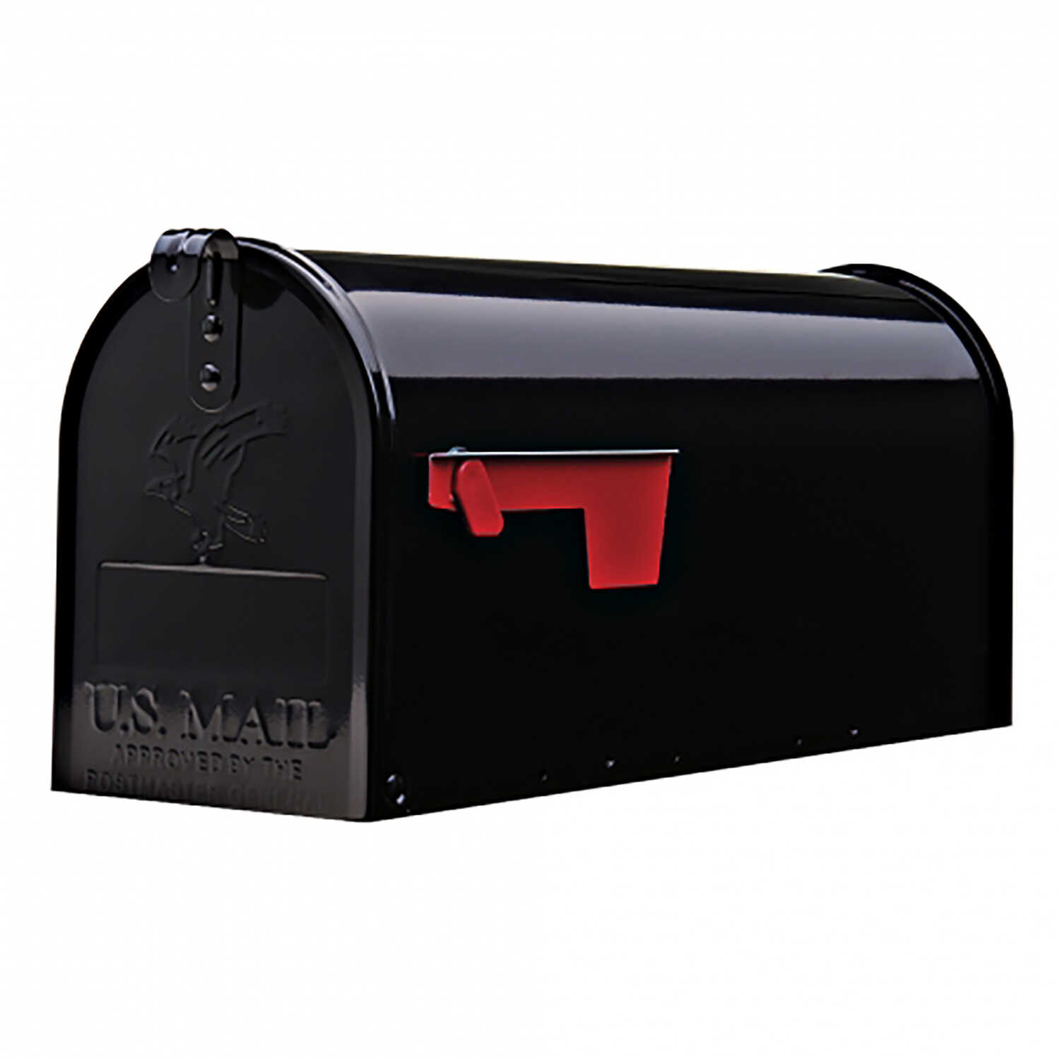 Gibraltar Mailboxes  Elite  Metal  Post Mounted  Black  Mailbox  8-3/4 in. H x 6-7/8 in. W x 20 in.