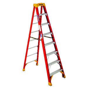 Werner  8 ft. H x 26.88 in. W Fiberglass  Step Ladder  Type IA  300 lb.
