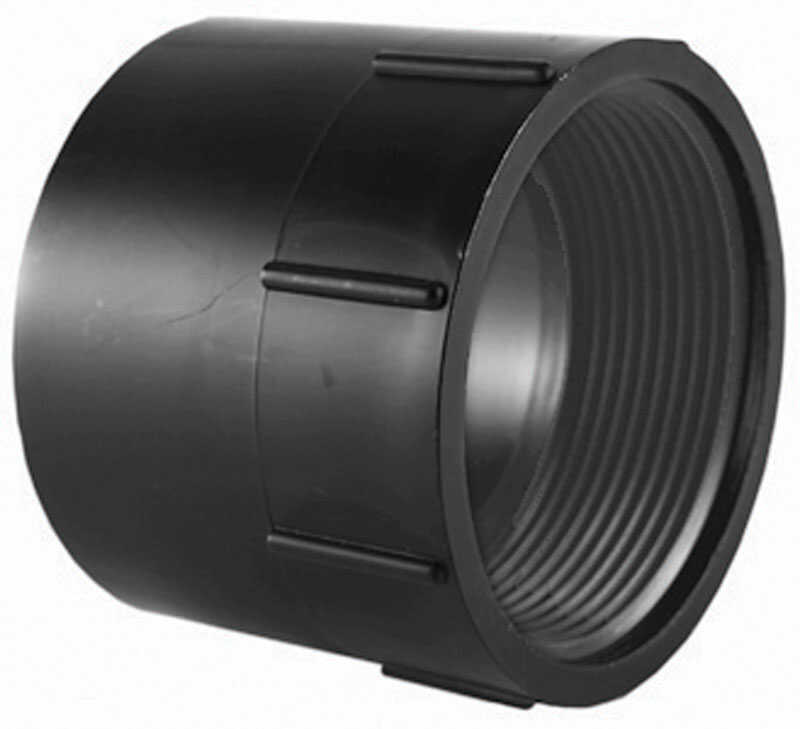 Charlotte Pipe  3 in. Hub   x 3 in. Dia. FPT  Pipe Adapter