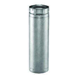 Duravent  4 in. Dia. x 12 in. L Galvanized Steel  Double Wall Stove Pipe