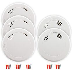 First Alert Hard-Wired w/Battery Back-up Electrochemical Smoke and Carbon Monoxide Detector
