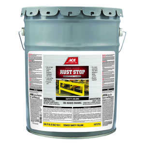 Ace  Rust Stop  Indoor and Outdoor  Gloss  Safety Yellow  Rust Prevention Paint  5 gal. Interior/Ext