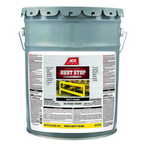 Ace  Rust Stop  Indoor and Outdoor  Interior/Exterior  Gloss  Rust Prevention Paint  5 gal. Safety Y