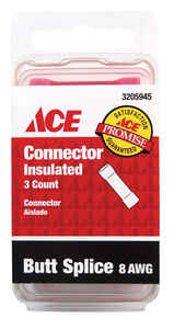 Ace  Butt Connector  3 pk 8 AWG