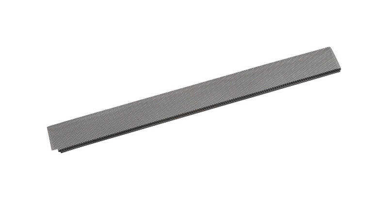 Amerimax  7.5 in. W x 36 in. L Black  Galvanized Steel  Gutter Guard