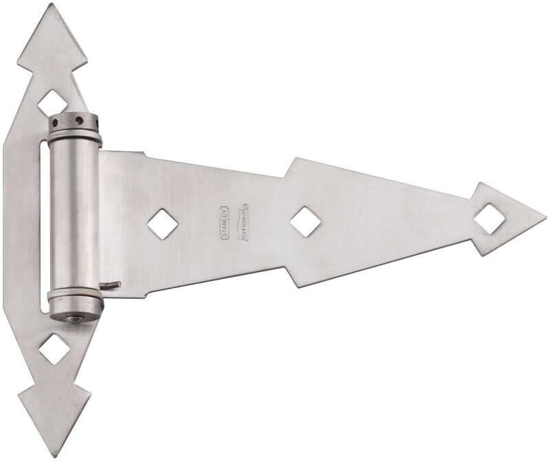 National Hardware  7 in. L Stainless Steel  Stainless Steel  Ornamental T Hinge  1 pk