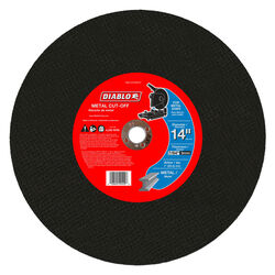 Diablo  14 in. Dia. x 1 in.   Aluminum Oxide  Metal Cut-Off Disc  1 pk