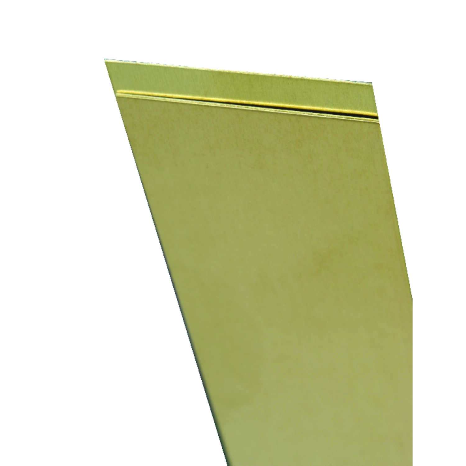 K&S 0.032 in. x 3/4 in. W x 12 in. L Brass Metal Strip