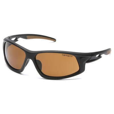 Carhartt  Ironside  Anti-Fog Safety Glasses  Bronze Lens Black/Tan Frame 1 pc.