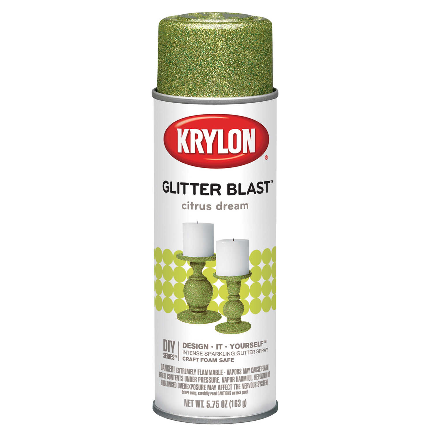 Krylon  Citrus Dream  Glitter Blast Spray Paint  5.75 oz.