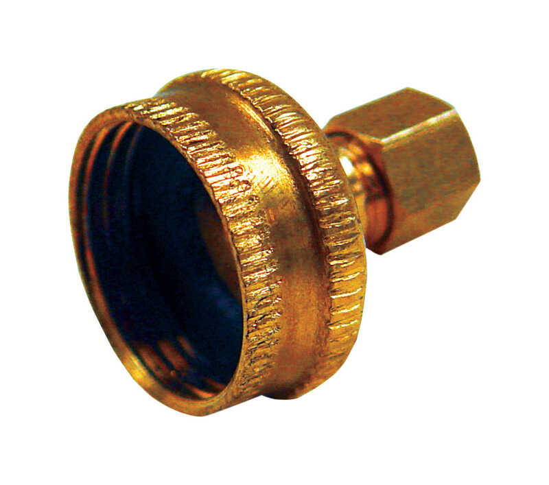 JMF  Brass  Hose Connector  1/4 in. Dia. x 3/4 in. Dia. Yellow  1 pk