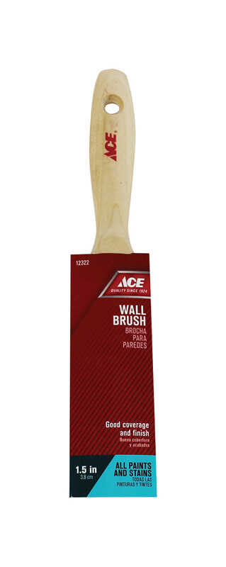 Ace  1-1/2 in. W Medium Stiff  Flat  Polyester  Paint Brush