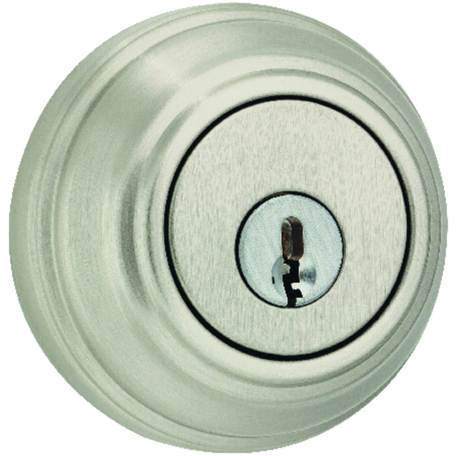 Weiser  Satin Nickel  Metal  Single Cylinder Smart Key Deadbolt