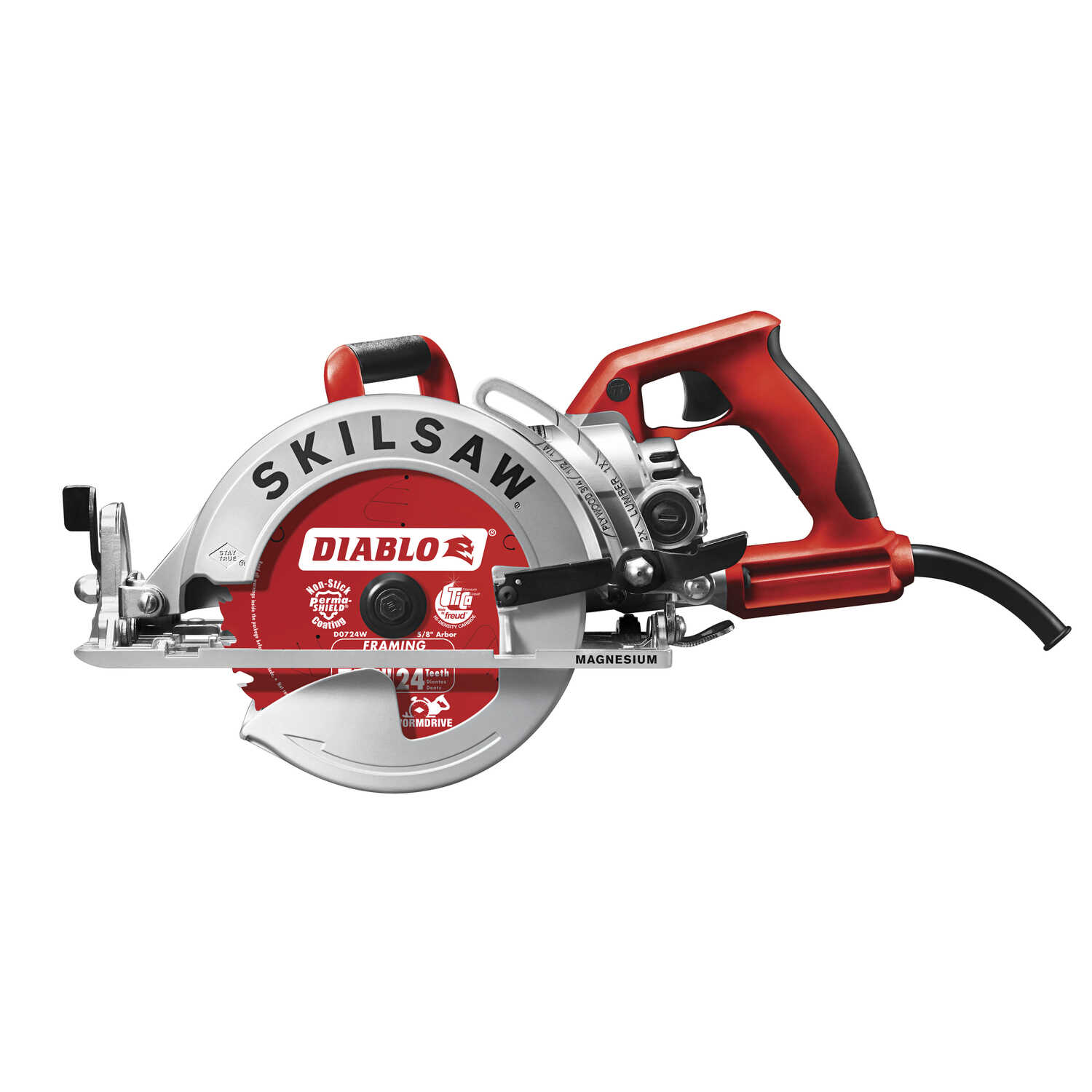SKILSAW  7-1/4 in. Corded  15 amps Worm Drive Mag Saw  Kit  5300 rpm
