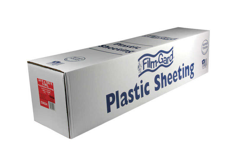 Berry Plastics  Film-Gard  Plastic Sheeting  6 mil  x 24 ft. W x 100 ft. L Polyethylene  Clear