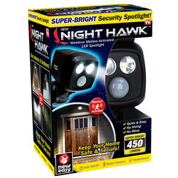 Night Hawk  As Seen On TV  Black  Battery Operated  5 watts LED  Spotlight  1 pk