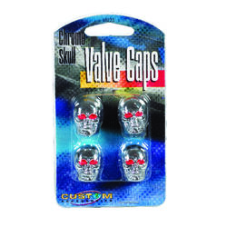 Custom Accessories  Chrome  Tire Valve Cap  1 pk