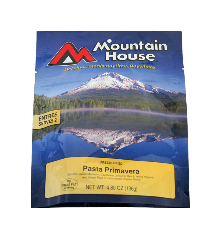 Mountain House  Pasta Primavera  Freeze Dried Food  4.8 oz. Pouch