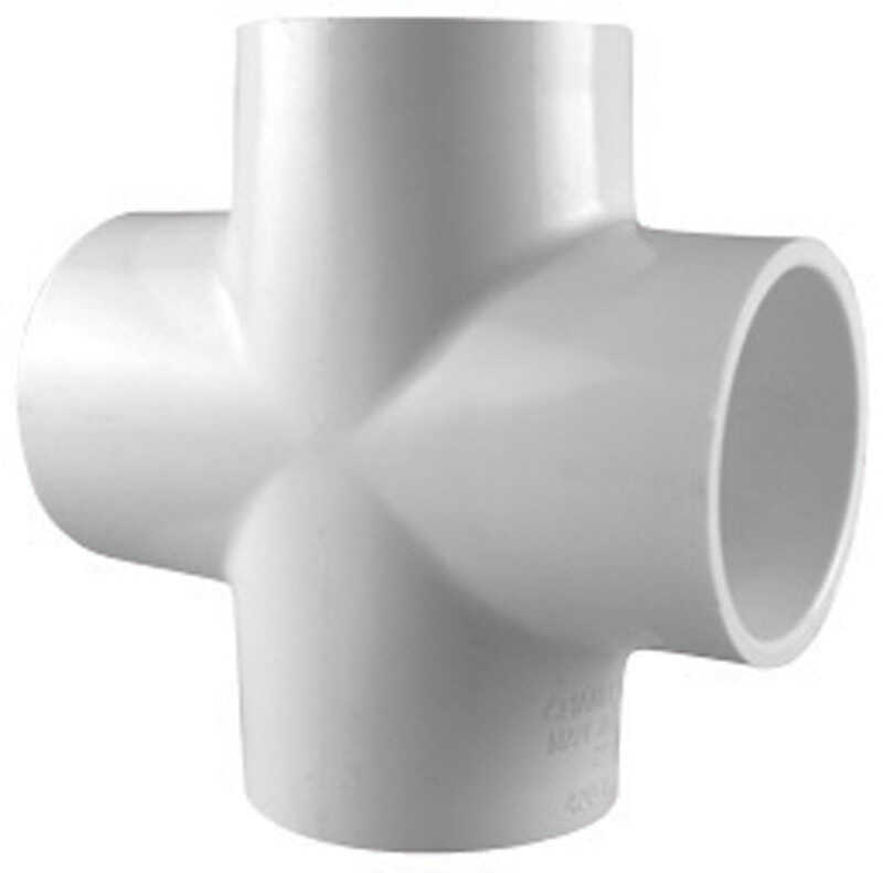 Charlotte Pipe  Schedule 40  1 in. Slip   x 1 in. Dia. Slip  PVC  Cross