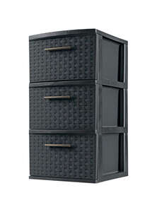 Sterilite  3-Drawer  24 in. H x 12.625 in. W x 14.5 in. D Storage Unit  Stackable