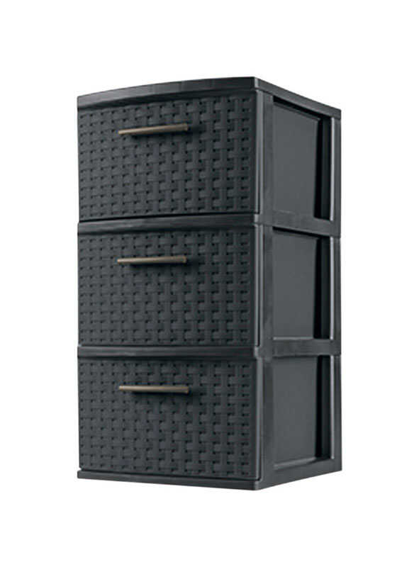 Sterilite  24 in. H x 12.625 in. W x 15 in. D Stackable Storage Unit