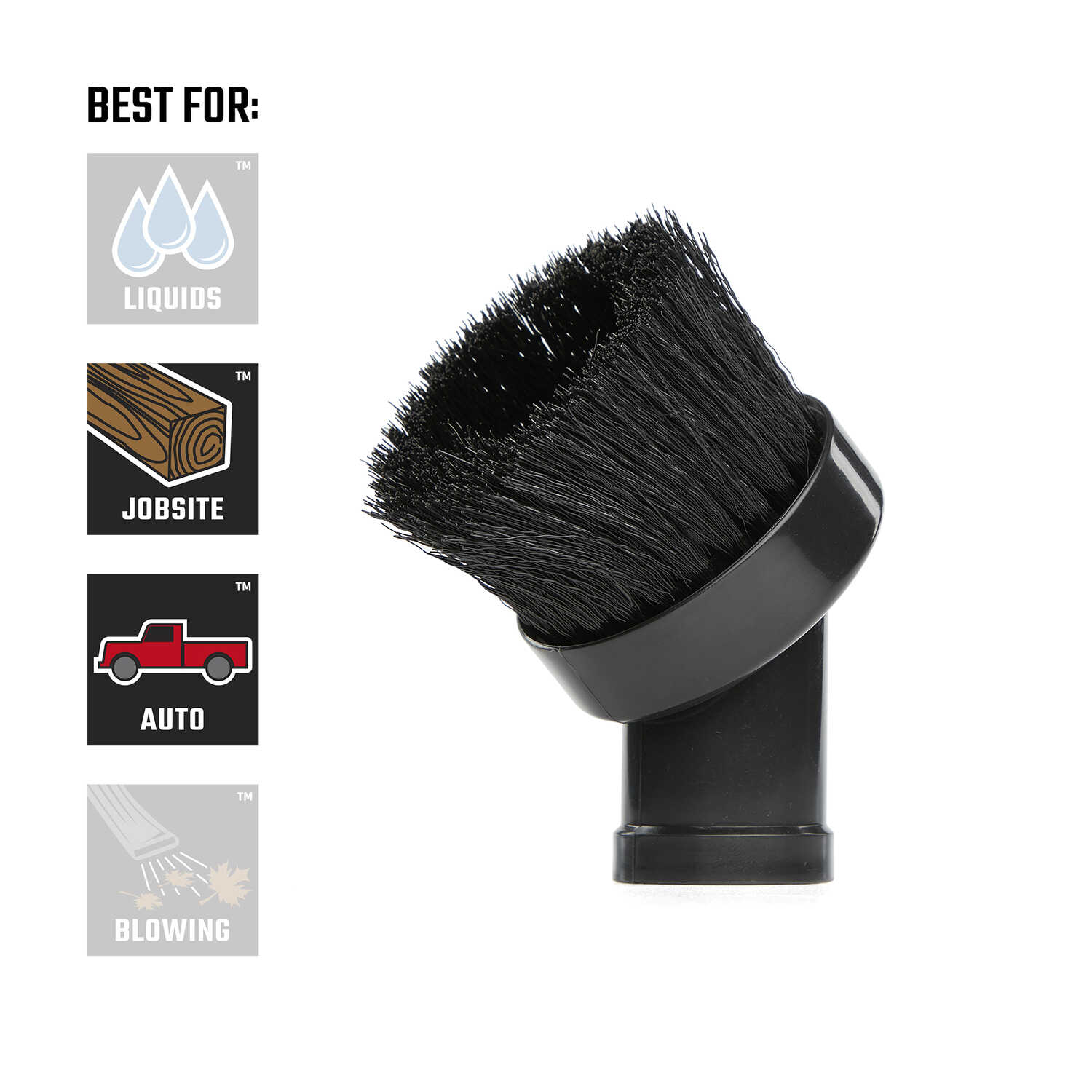 Craftsman  3 in. L x 4 in. W x 1-1/4 in. Dia. Dusting Brush  1 pc.
