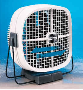 Seabreeze  COOL SWEEP  10 in. 2 speed Electric  Oscillating Portable Fan